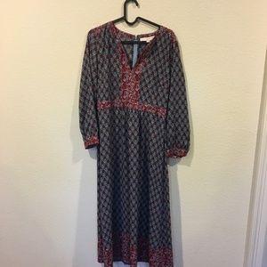 b9f4fa2de3c LOFT Dresses - NWT LOFT blue autumn bloom midi dress